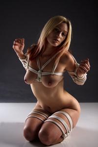 Girl bending over nude peeing