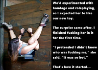 captions Wife fucked tied and