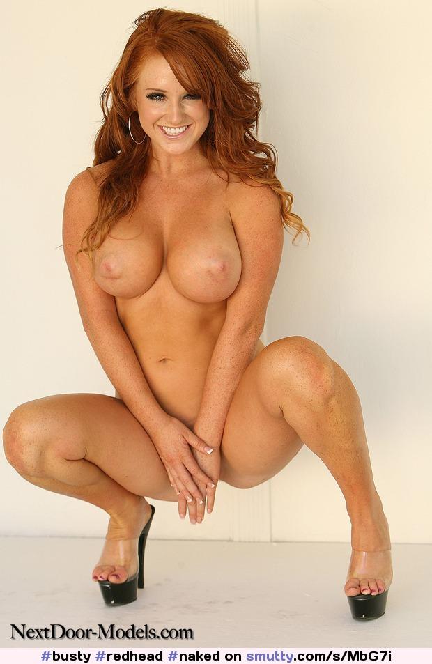 high in Nude heels redheads