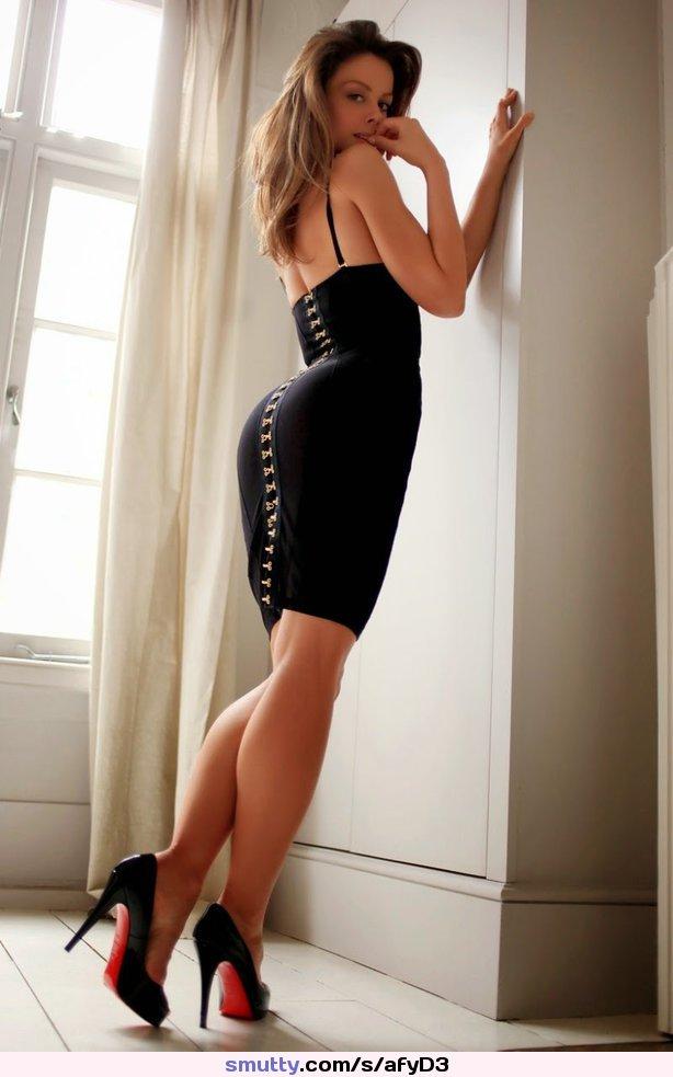 Estefania Caballero Amazing Ass Tight Black Dress
