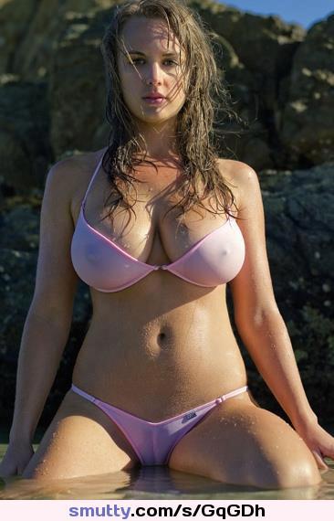 bikini exotic camel toes wet Sheer