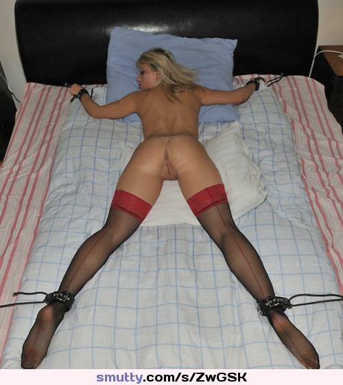 Blonde amateur stocking feet