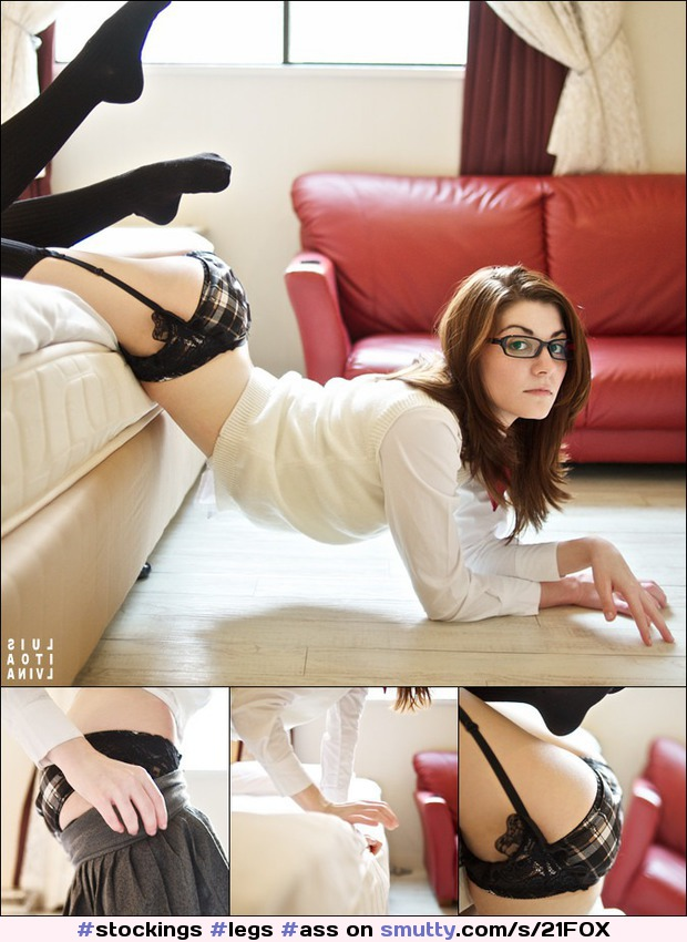 #stockings #legs #ass #glasses #panties #lingerie #slutwear #college #sexy #perfection