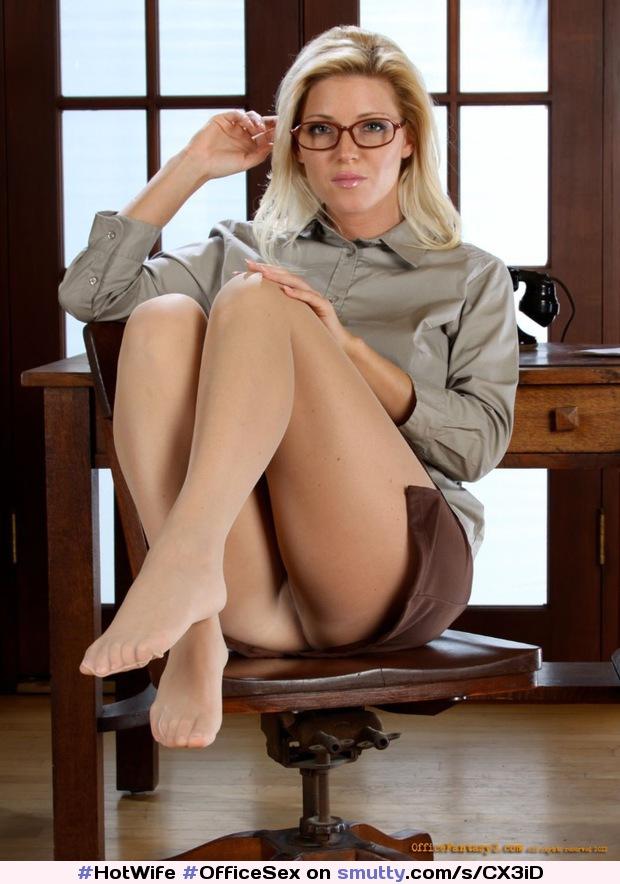 Hot upskirt of an office secretary