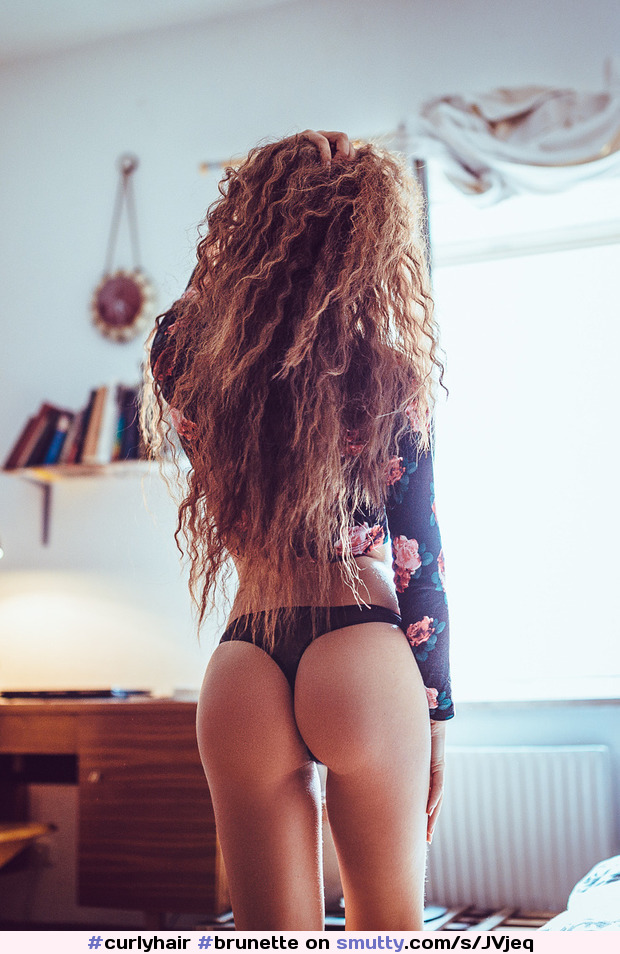 #curlyhair #brunette #thong #backview #beauty #artistic