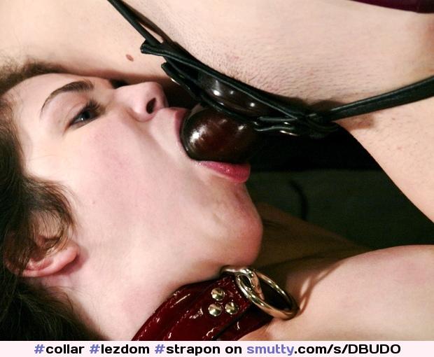 Lesbian strap on deep throat