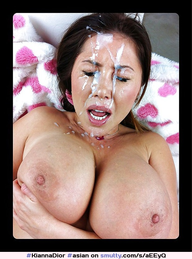 Asian babe tit fucks for cumshot