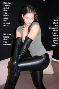 pants femdom Leather