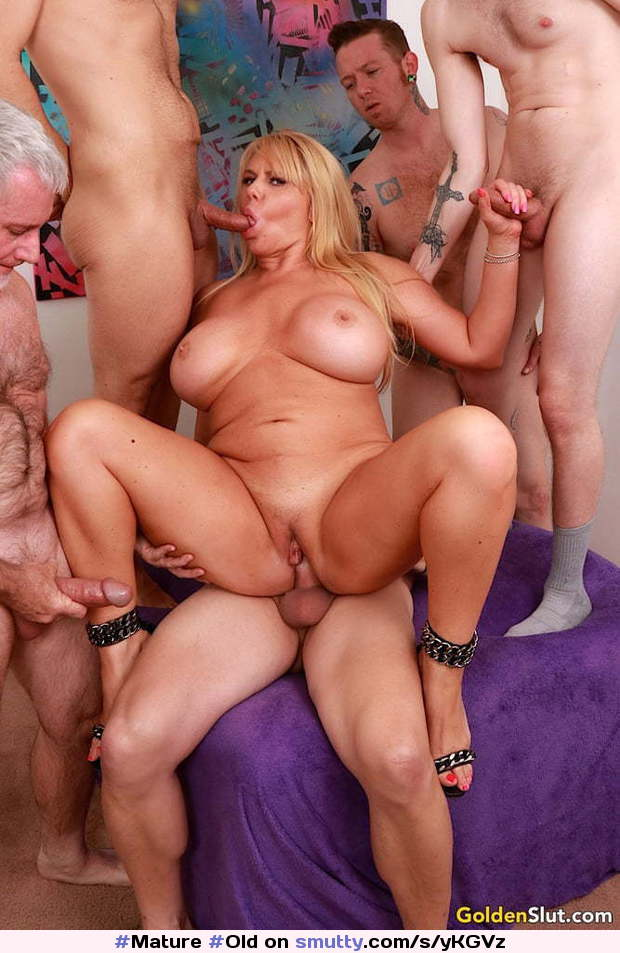 Mature Old Whore Gangbang