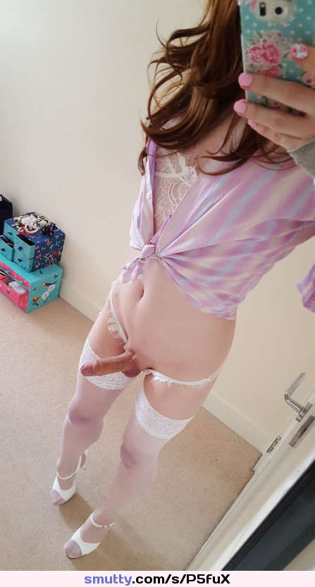 #tranny #trap #trannycock #stokings #cockinpanties