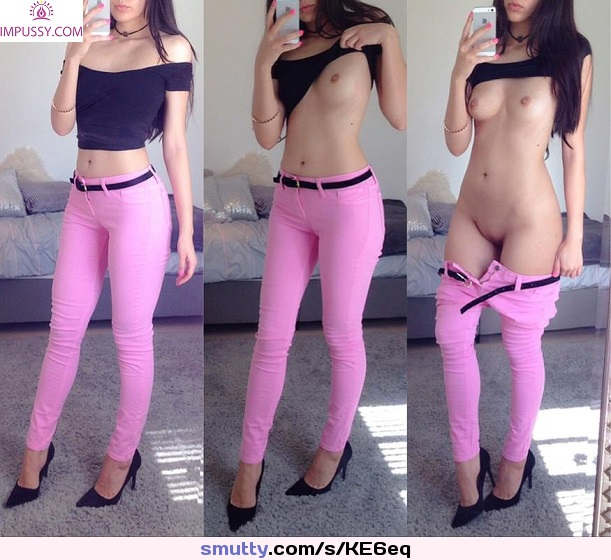 Tiny tits and pink jeans #tinytits #tiny #titties #tits #pink #JeansDown #jeans #ImPussy