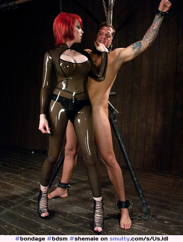 Latex sex swapping video