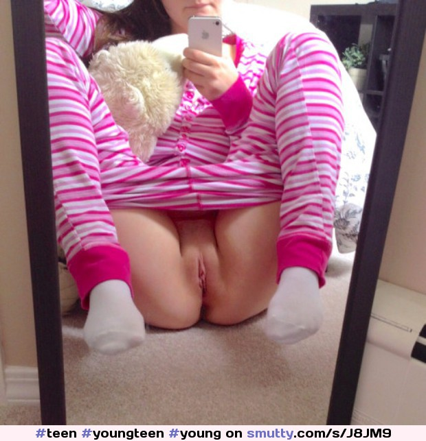 #teen#youngteen#young#shaved#pussy#legsspread#selfie#selfpic#selfshot#posing#mirror#pajamas#pjs#bottomless#daddysgirl#daughter#teenslut#hot