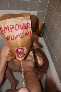 Golden shower humiliation